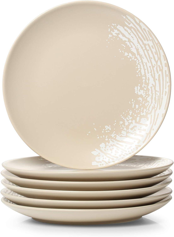 DOWAN Dinner Plates Ceramic Dessert Salad Finally popular brand Excellence for Christmas