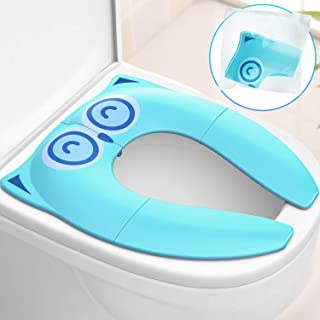 Gimars Upgrade Stable Folding Travel Portable Potty Training Seat Cover Fits Most Toilet, No Falling by 6 Large Non-slip S...