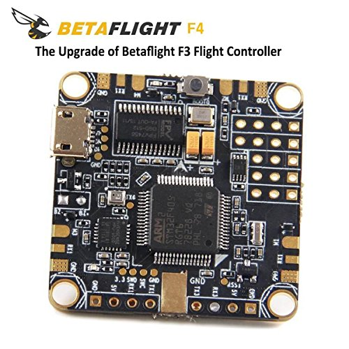BetaFlight F4 Flight Controller OSD AIO ( Integrated PDB Power distribution board , BEC rated to 1.5a 5v , Current sensor , OSD Max Current 145A ) for FPV Racing RC Drone