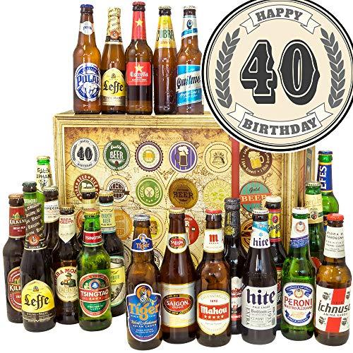 40. Geburtstag - Bier aus aller Welt 24x - Zum 40. Geschenke - Adventskalender Bier 2019