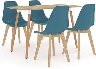 Festnight 1 Table et 4 Chaises pour Salle à Manger 5 pcs Turquoise