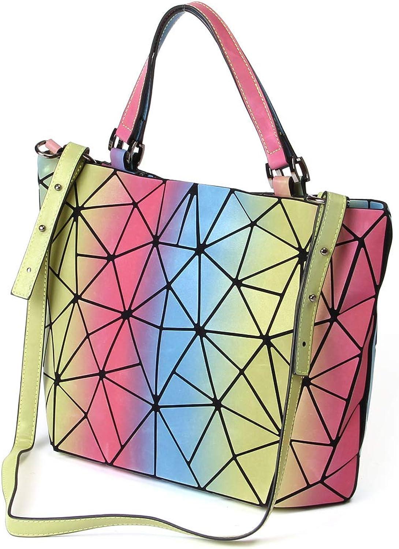 Yukun Handtasche Lingge Tasche Tasche Tasche Mode Frauen Tragbare Rhombic Bag Regenbogen Vielzahl geometrische Crossbody Tasche kann B07JFWS1RX  Qualität zuerst 2081fc