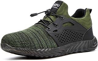Pinkpum Chaussures de Securité Homme Travail Baskets de Securité Embout Acier Protection Léger Respirante Antidérapante