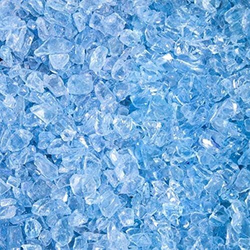 Glassplitt Blue Ice, ungewaschen, 5-10er Korn, Glas Splitt von GSH - 20 kg/Sack