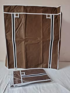 EEMWAY Fabric Cover only (for Portable Shoe Rack, 4-laier) (Size-L24xB12xH29,Brown Colour)