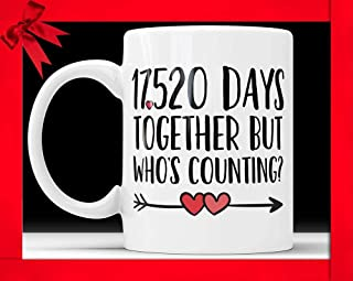48th Anniversary Coffee Mug - 17520 Days Together But Who's Counting Funny Wedding Anniversary Gift, 48th year Anniversary Gifts Cup,11 oz