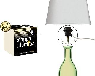Stappa e Illumina Big Size – Botellas de lámparas en 30 segundos – Botellas con orificio de 20 a 30 mm – Champán, vino, ginebra, vodka, espumante