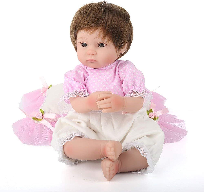 HSDDA Puppenkissen 18 Zoll Reborn Babypuppen handgefertigt lebensechte realistische Silikon Vinyl Baby Doll weiche Simulation 45 cm Augen öffnen Kinder Lieblingsgeschenk Cartoon-Plüschkissen B07PGDT6Z3 Neuheit  | Neues Produkt