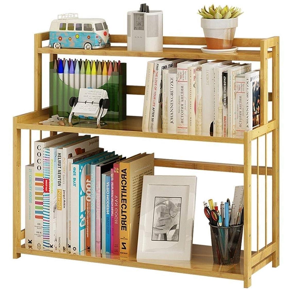 クラシック最も早い倒錯RMJAI リビングルーム 本棚デスクトップ本棚純木収納ラックオフィスシンプル本棚学生デスク本棚53×60×18センチ 家庭やオフィスに最適