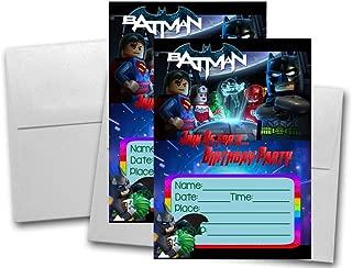 batman photo birthday invitations