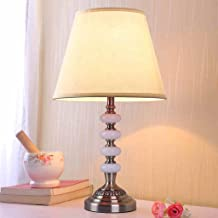 CKH Simple Modern Lamp Bedroom Bedside Lamp Wedding Room Red Creative Romantic and Warm Home (Color : Rice White)