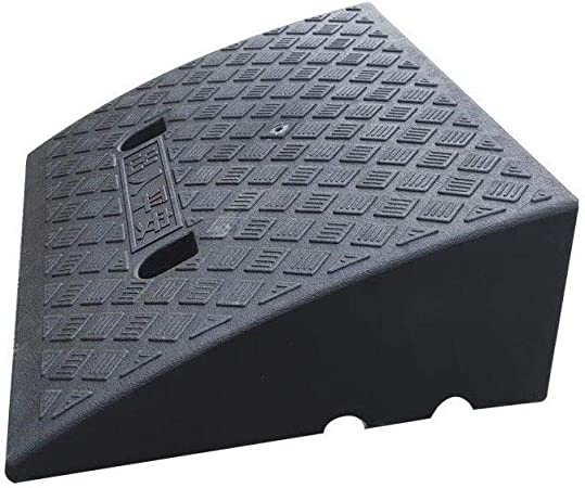 Portable Plastic Curb Ramps Outdoor Wheelchair Uphill Pad Multifunction Service Ramps Kerb Ramps Color : Black, Size : 504017CM 11 way bike CSQ-Ramps 17CM Slope Pad
