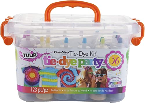Tulip One-Step Tie-Dye Kit Party Creative Group Activities, All-in-1 DIY Fashion Dye Kit, Rainbow