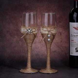Best burlap wine glasses Reviews