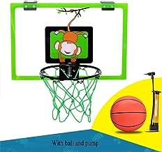 SUON Enfant Jouet De Tir Hauteur R/églable 90-164cm avec Ballon Et Pompe des Gamins Panier De Basket Rose