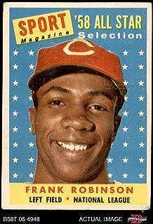 1958 Topps # 484 All-Star Frank Robinson Cincinnati Reds (Baseball Card) Dean's Cards 2 - GOOD Reds