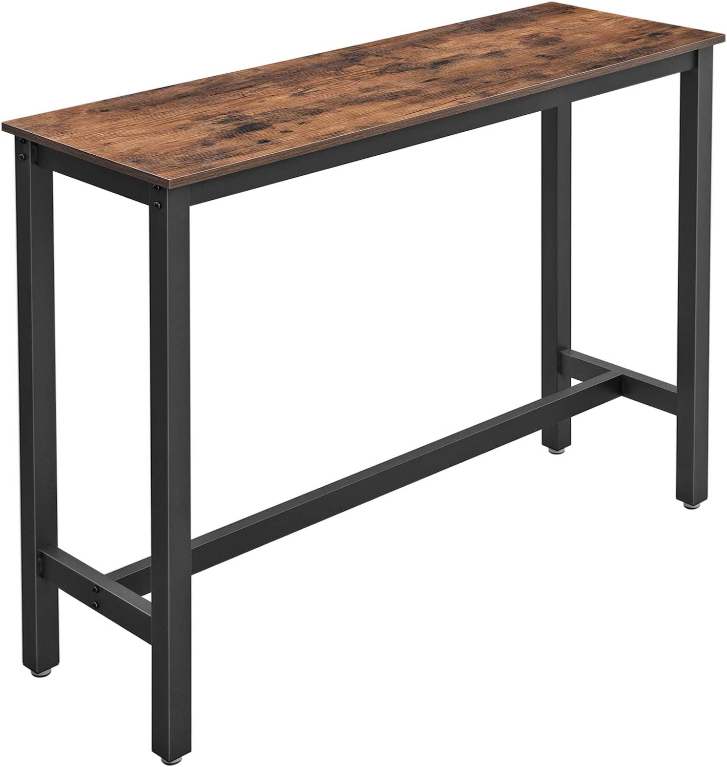 Vasagle LBT9X Narrow Bar Table, Kitchen Table, Kitchen Counter,  Rectangular High Table, Sturdy Metal Frame, 90 x 9 x 9 cm, Easy  Assembly, ...