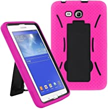 Galaxy Tab A 7.0 SM-T280 2016 Case by KIQ Heavy Duty Drop Protection Silicone Skin Hard Plastic Case Cover for Samsung Galaxy Tab A 7-inch [T280 & T285] (Hybrid Hot Pink)