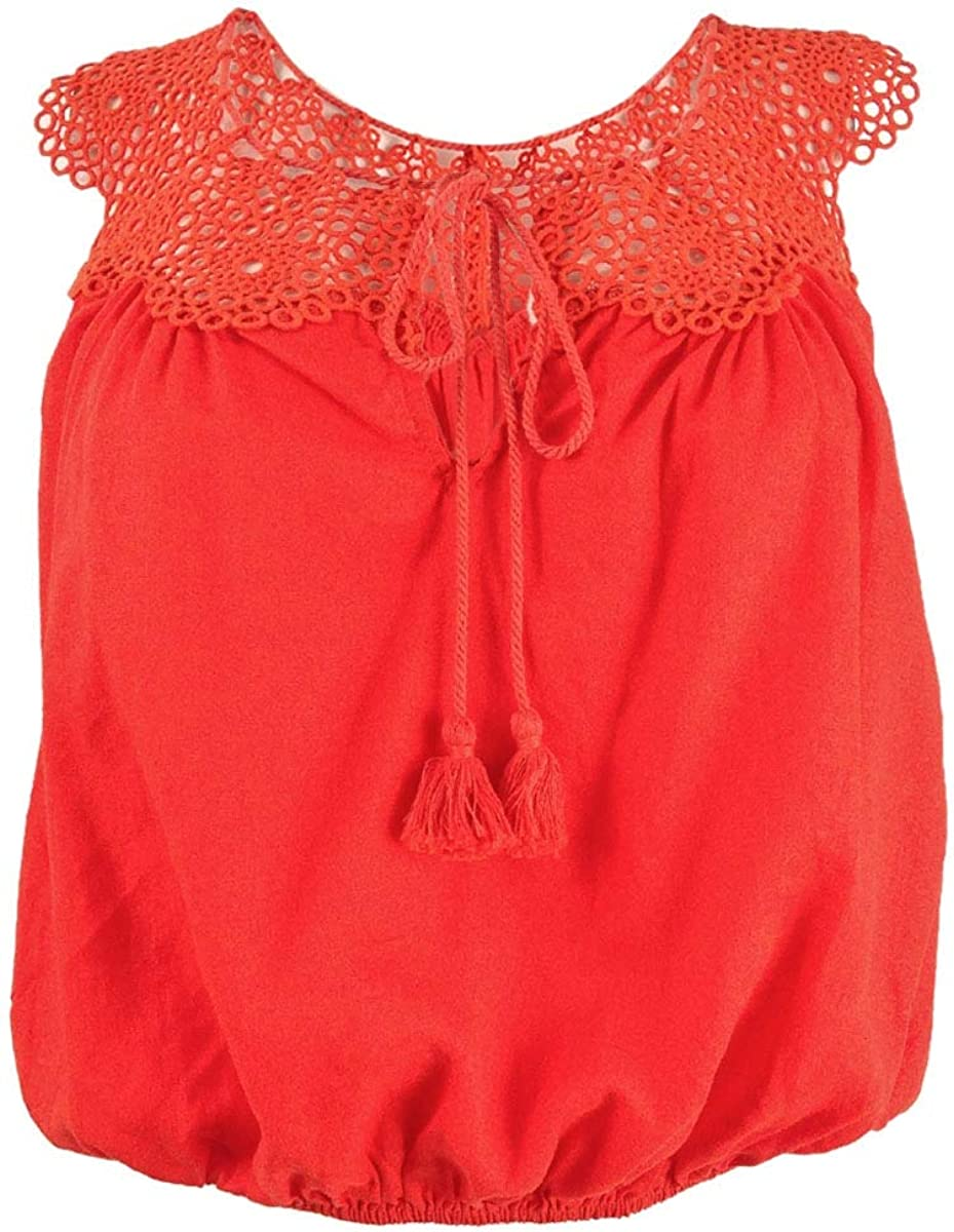 Free People Womens Clover Crochet Sleeveless Camisole Top