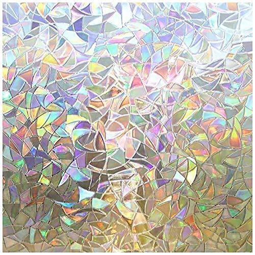 rabbitgoo 3D Fensterfolie Selbstklebend Dekorfolie Sichtschutzfolie Statisch Haftend Anti-UV - 60cm x 200cm