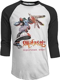 JeremiahR Limp Bizkit Significant Other Men's 3/4 Sleeve Raglan Baseball Tee Black