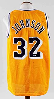 Magic Johnson Signed Jersey Lakers - COA BAS - Beckett Authentication - Autographed  NBA Jerseys 8d2588c88