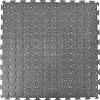 Greatmats Garage Floor 20 x 20 inch PVC Coin Top Tile 8 Pack (Gray)