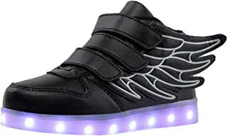 3b82e3f48feb8 Homyl Chaussures de Sport Lumineuses Clignotantes 7 Couleurs LED Colorés  avec Chargeur USB Rechargeable Style d