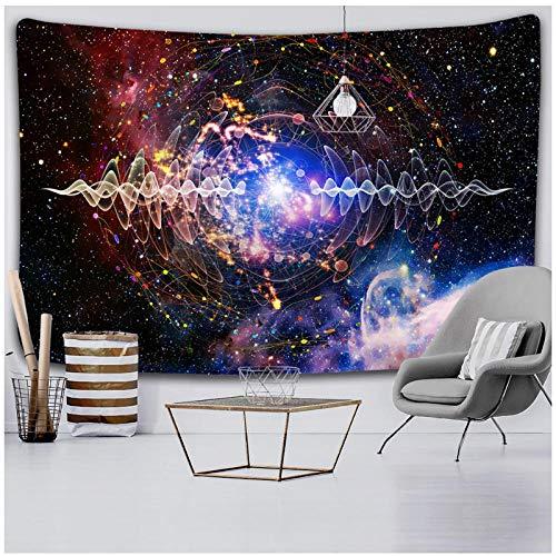 KBIASDUniverso Estrellado Espacio Aurora Tapiz Dormitorio decoración de la Pared Tela de Pared Impresa 150x130cm