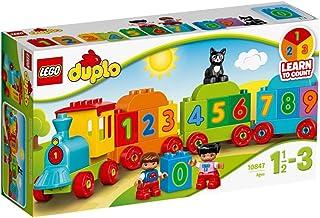 LEGO 10847 DUPLO Getallentrein, Treinspeelgoed met Getallen en Kleurrijke Stenen, Educatief Speelgoed voor Peuters van 1,5...