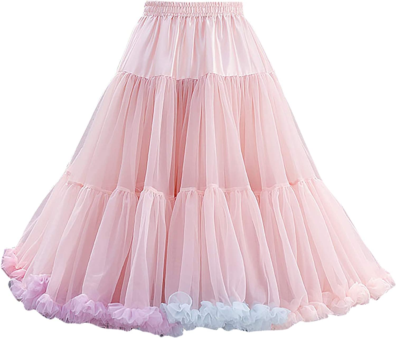 Jasalu Bow tie Basic Versatile Casual Tutu Dancing Skirt for Women Irregular Cut Solid Color Over The Knee Dress