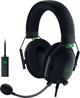 Razer BlackShark V2 Gaming Headset: THX 7.1 Spatial Surround Sound - 50mm Drivers - Detachable Mic - PC, PS4, PS5, Switch,...
