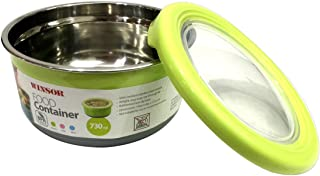 Winsor Food Container, Assorted, W 17.8 x H 16.0 x L 7.0 cm, 730 ml, Plastic/Stainless Steel