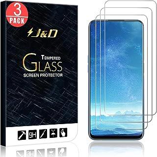 J&D kompatibel med Realme 7 glasskärmskydd (3-pack), inte full täckning, härdat glas HD klart ballistiskt glas skärmskydd ...