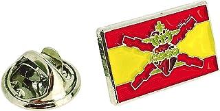 Pin de solapa de la Bandera Sagrado Corazon con Cruz de San Andres | Pines Originales y Baratos Para Regalar | Para las Ca...