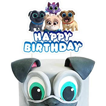 Amazon Com Puppy Dog Pals Rolly And Bingo Edible Cake Topper