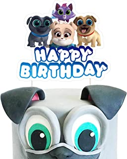 Puppy Dog Pals Cake Toppers - Cute Birthday Cake Decorations Pal Party Supplies - 1 Count