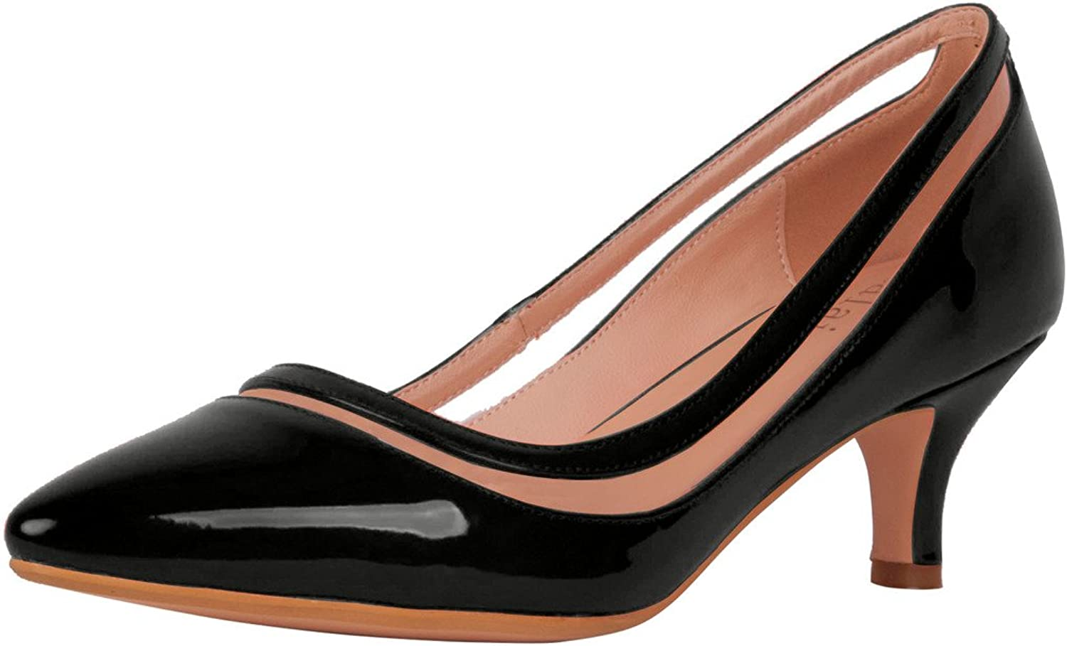 Calaier Womens Experience Closed-Toe 5.5CM Stiletto Slip-on Pumps shoes