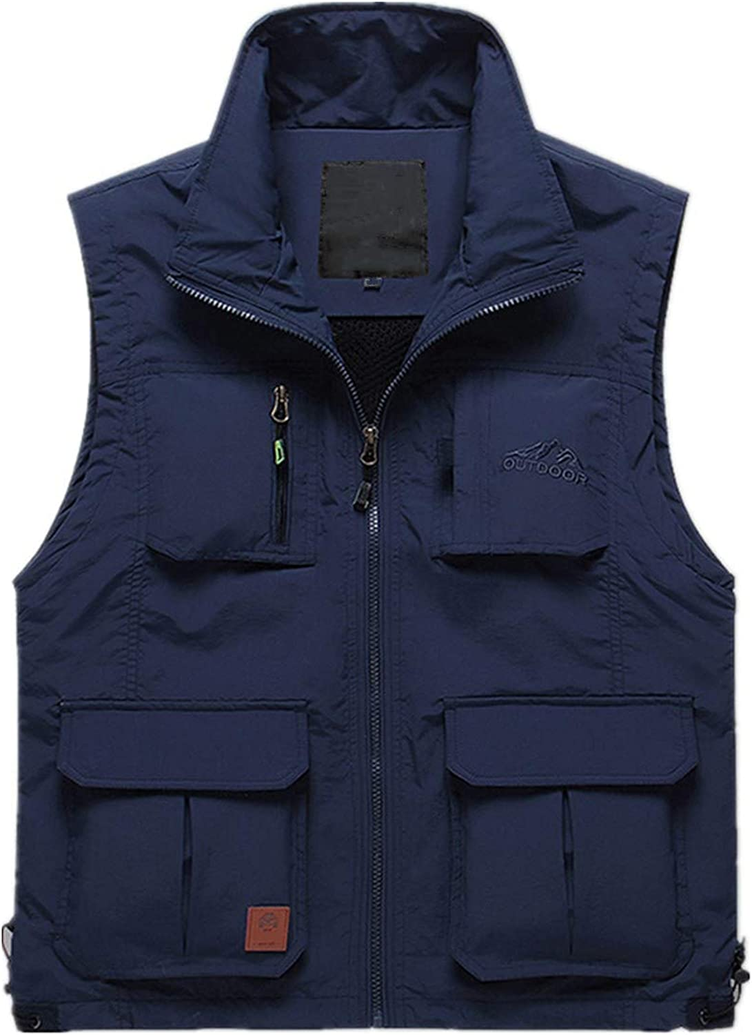 XINFU Men's Photography Outdoor Leisure Vest Fishing Mountaineering Vest Plus Velvet No Plus Velvet Multi-Pocket