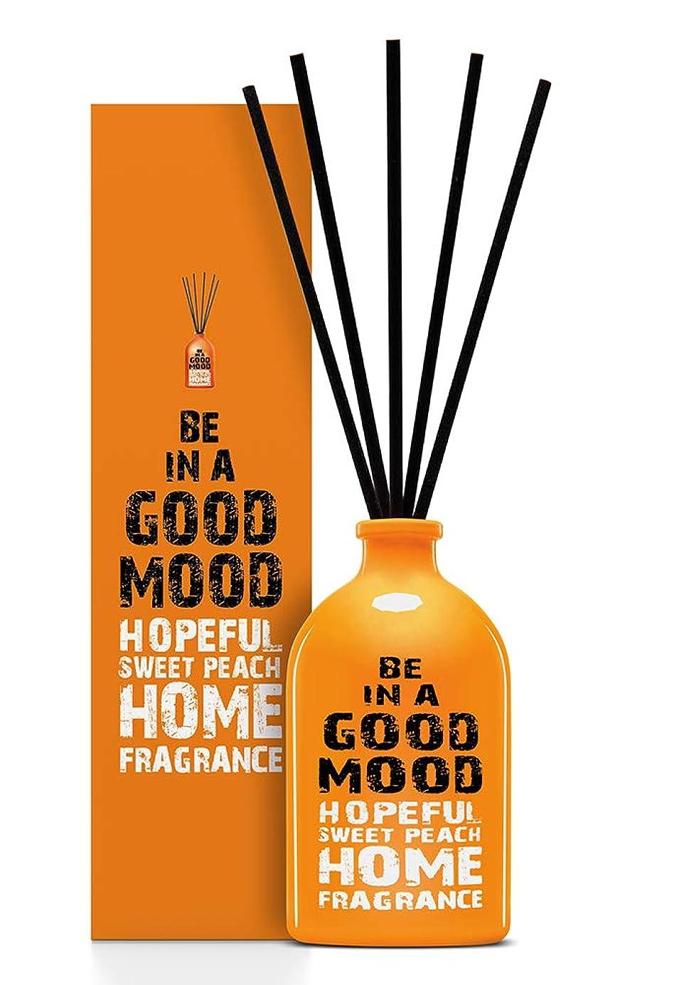 ミニチュア擬人化換気するBE IN A GOOD MOOD ルームフレグランス スティック タイプ SWEET PEACHの香り (100ml)