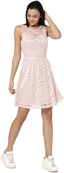 Only Female Kleid Ohne Armel Spitzen Amazon De Bekleidung