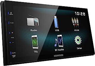 Kenwood DMX120BT Digital Media Receiver with 17.3 cm High Gloss Touch Panel, Bluetooth, Android USB Mirroring, 4 x 50 Watt