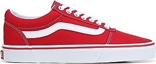 Vans Ward Low Top Sneaker - Racing Red/White (10) (Racing Red/White)
