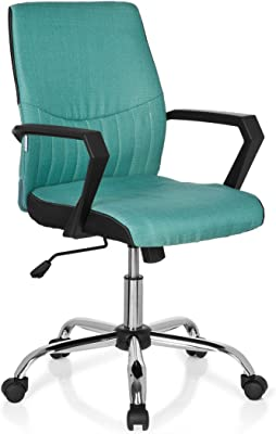 hjh OFFICE 723022 Silla de oficina SMOOTH tejido negro / verde