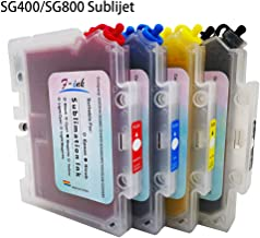 F-INK Prefilled Sublimation Ink Cartridge Compatible for Sublijet Sawgrass Virtuoso SG400 and SG800, Refillable Sublimation Ink Cartridge