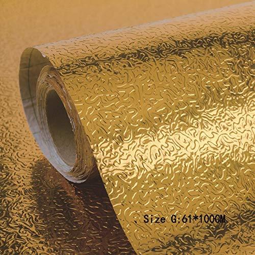 Jidan Küchen-Wand-Ofen Aluminiumfolie Ölbeständiges Aufkleber Anti-Fouling-Hochtemperatur Selbstklebende Croppable Tapete (Color : G)