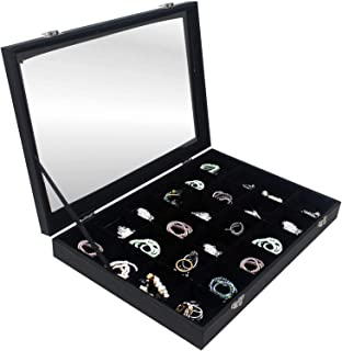 Earrings Studs & Rings Accessories Organizer ~24 Grid Jewelry Display Case ~ Accessories Showcase Storage ~ Jewelry Displa...