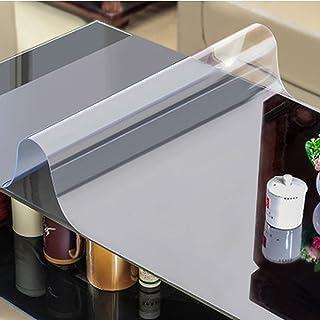 HHUU 2 mm klar PVC bordsskydd transparent bordsduk dyna, rektangulär bordsskydd skrivbord matta matbord träbord kaffe bord...