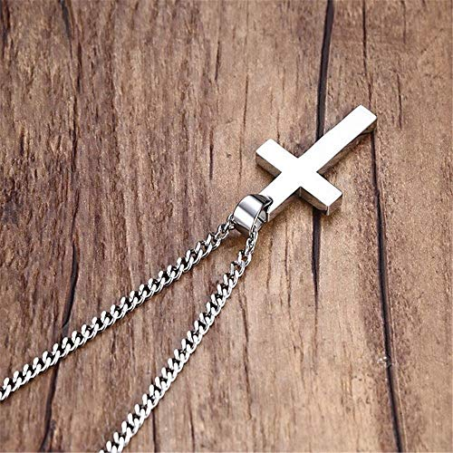 Jewelry Cross Statement Mens 24 Stainless Steel Link Chain Pendant