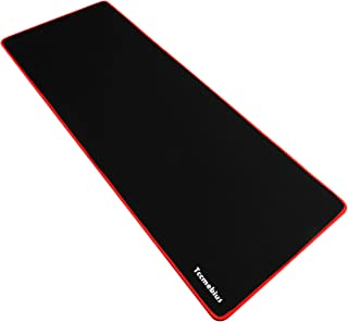 Tccmebius Extended Large Gaming Mouse Pad, Computer Keyboard Mousepad Mouse Mat, Water-Resistant, Non-Slip Rubber Base Cloth, Ideal for Gaming, Thick X-Large 30.71x11.81×0.12 inch (Red, X-Large)